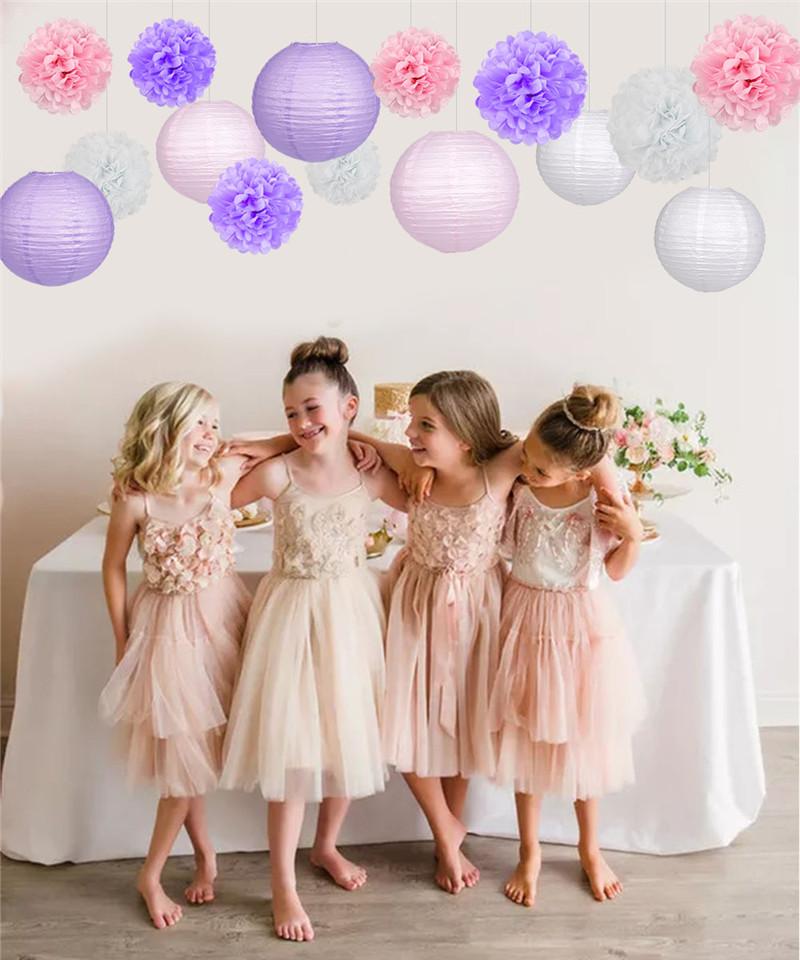 15pcs Pink party decoration 4_