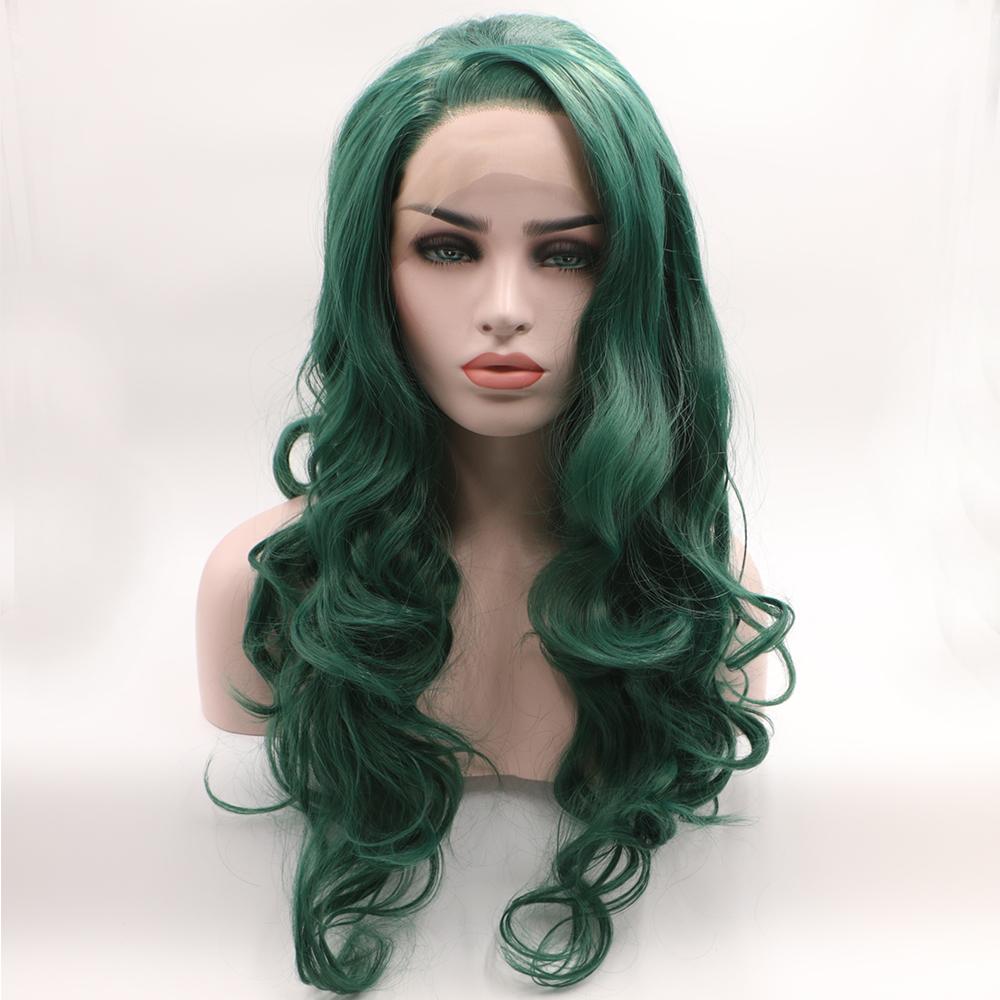 dark green wigs