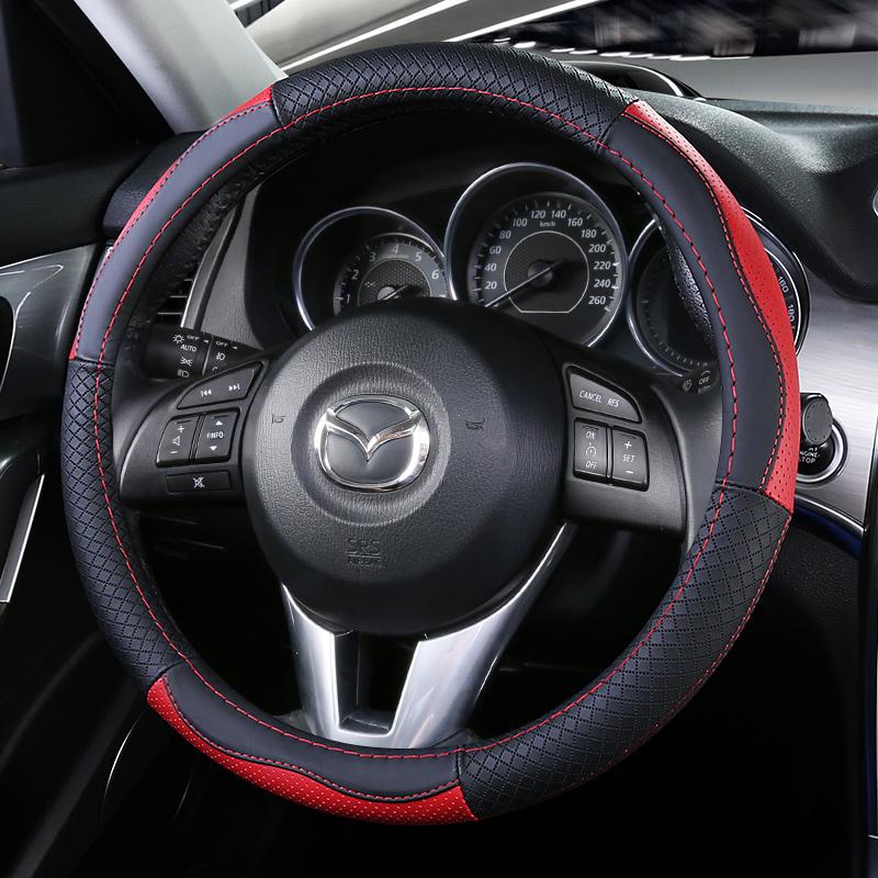 Color : Black mmg MMGgang CX3 CX5 CX8 CX9 Innen Auto-Lenkrad Umfa/ßt Ordnung Aufkleber for Mazda 3 6 CX3 CX5 CX8 CX9 Upgrade-Carbon Black