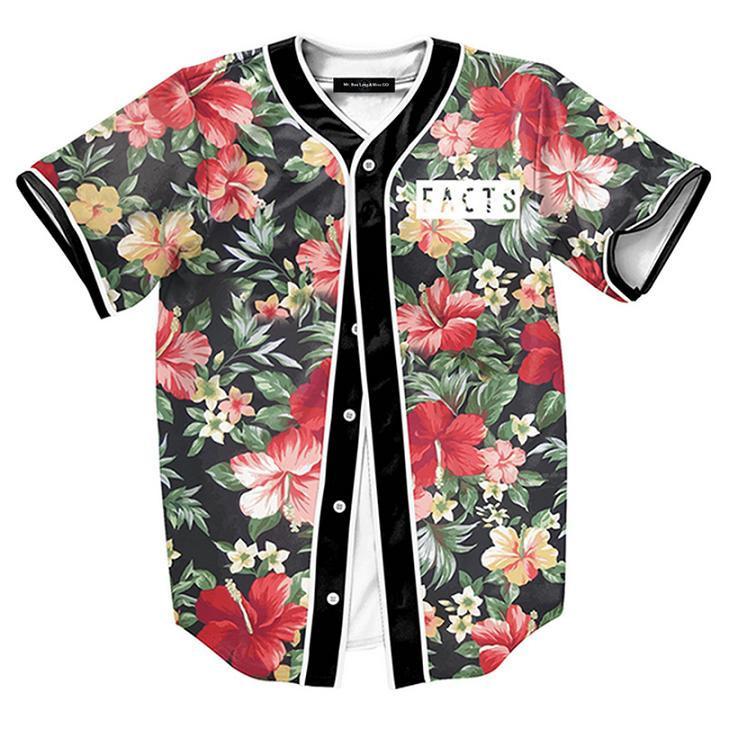 2016-Trend-Fashion-Casual-Baseball-Shirt-3d-print-flower-floral-Baseball-shirt-casual-Korean-style-Harajuku