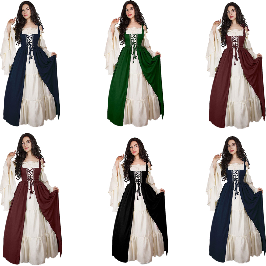 2019 Medieval Dress Cosplay Halloween Costumes For Women Palace Carnival  Party Disguise Princess Female Vestido Robe Plus Size NobleMX190921 From ...