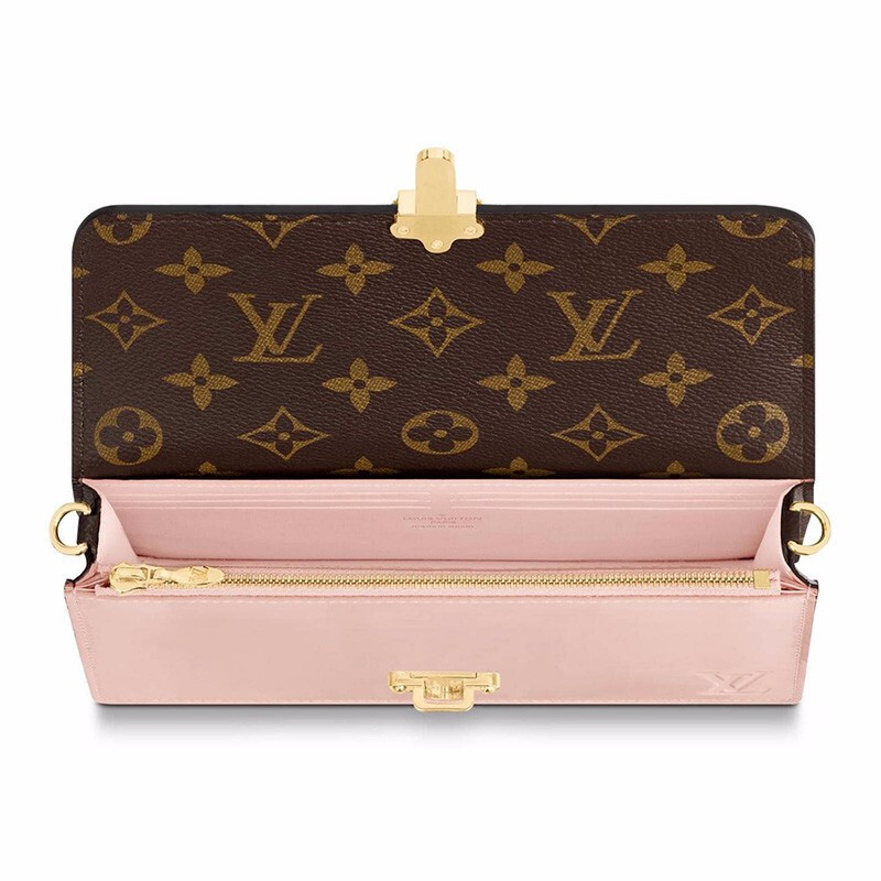 / handbags Cherrywood chain wallet Monogram canvas calfskin shoulder Messenger bag M63306