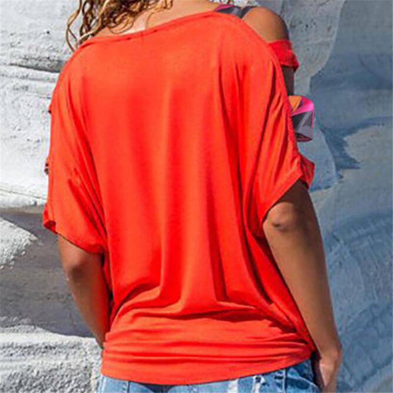 Горячая продажа тенниска голое плечо Сыпучие Boho холодного плеча мундир Новая тенниска Чистый цвет с коротким рукавом Майки Топы