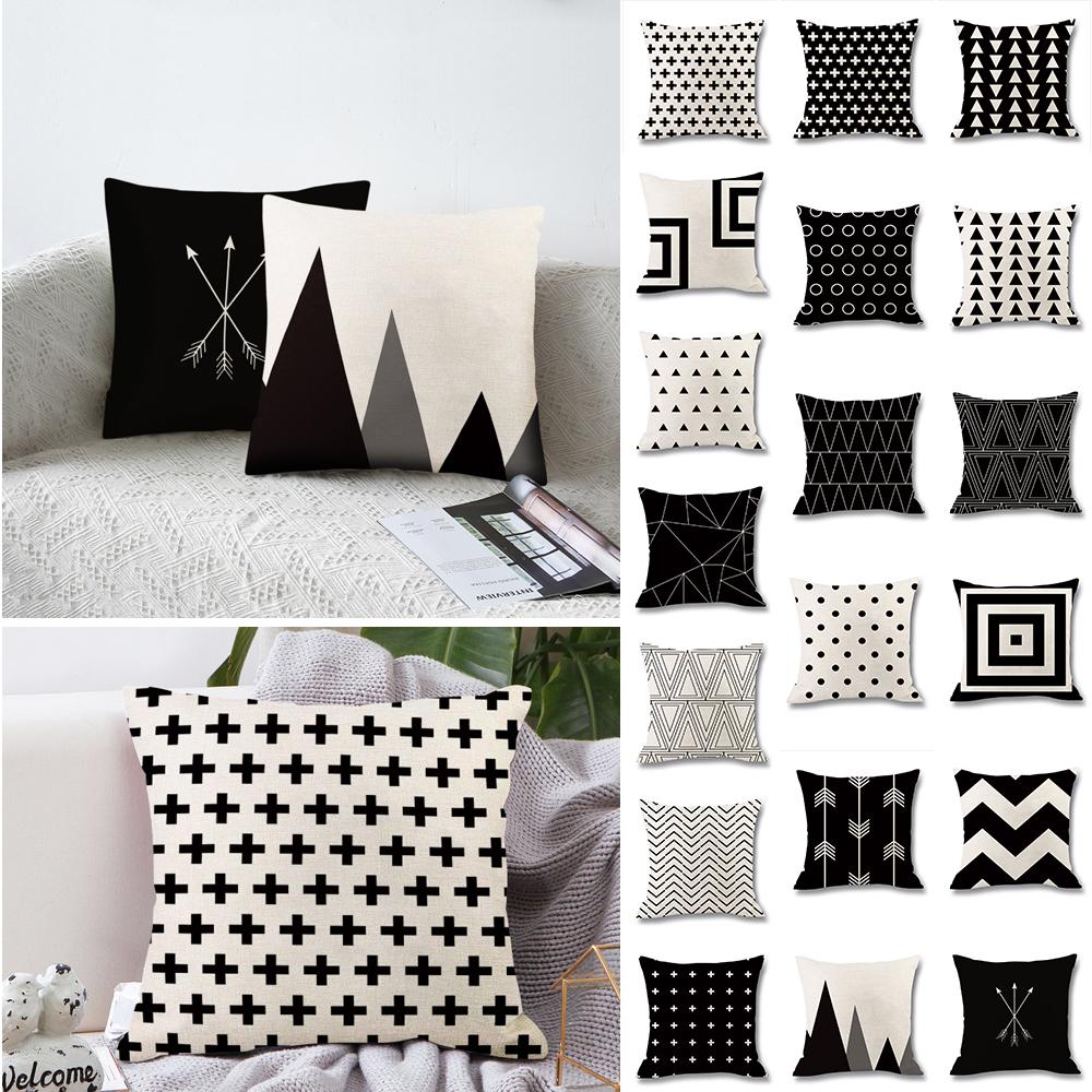 Cuscini Bianchi E Neri didihou 1pc cuscino geometrica copertura bianco e nero tiro cuscino caso  peach skin cuscino a righe geometric art