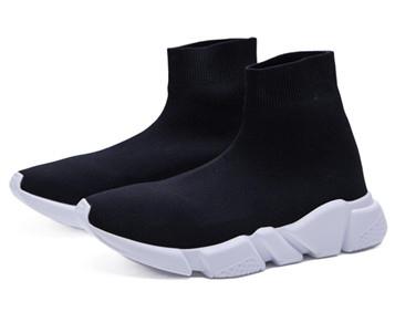 Sapatos de luxo 2019 Meia Sapatos Formadores Running Sneakers Speed Trainer Meia Corredores de Corrida Sapatos Pretos Homens E Mulheres Calçados Esportivos 36-45