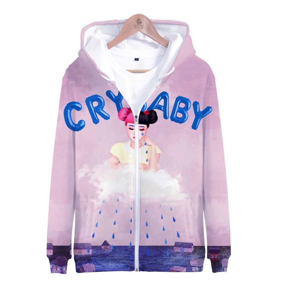cry baby Melanie Martinez hoodies delle donne cerniera 2019 caldo del poliestere di modo Hoodies felpata casuale signore Zipper Felpa