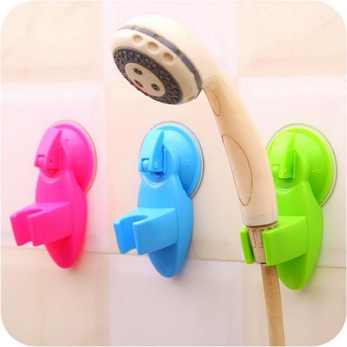 Shower Mounting Brackets Head Holder Cup Suction Shelves Bathroom Adjustable Bracket Rose White Orange Bath Shower Support
