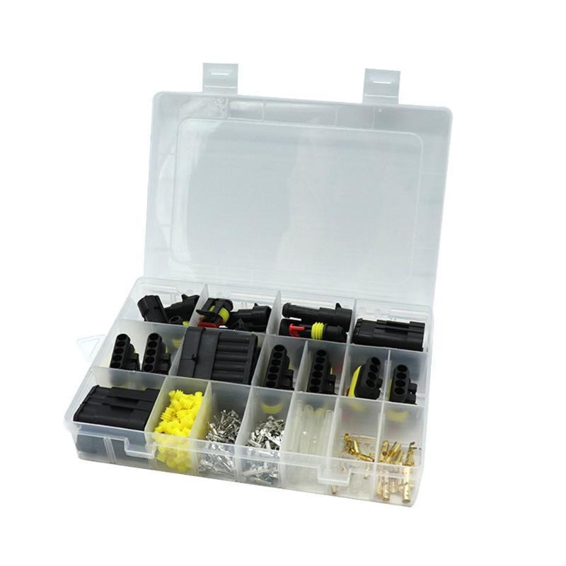 Sharplace 100 Sets Conectores de Terminales Crimpado de 4,8mm Hembra Mangas Aislantes