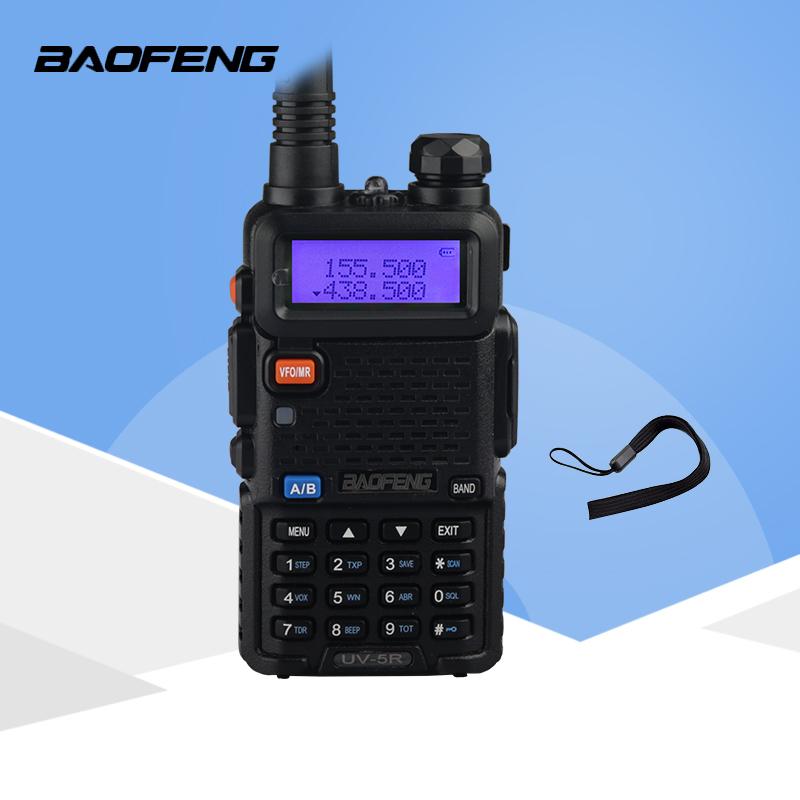 Portable UV-5R Dual-band Handheld Alarm VHF//UHF Two Way Ham Radio Transceiver
