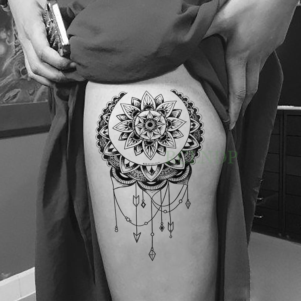 Impermeable Falso Tatuaje Temporal Etiqueta Lotus Dreamcatcher Tatouage Tatto Flash Tatoo Volver La Pierna Del Brazo Abdomen Eauty Salud Para Mujeres