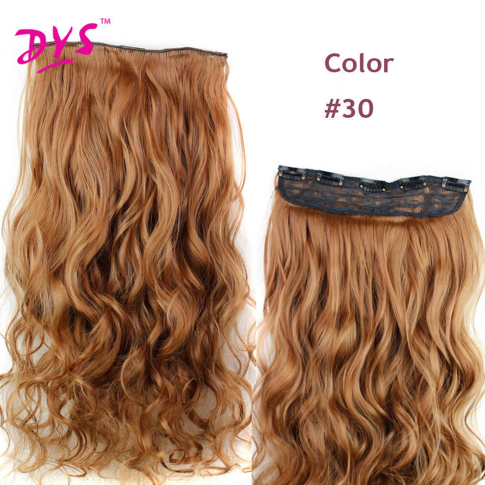 Deyngs 60CM One Piece 5 Clips in Hair Extensions For Women 34 Full Head Long Wavy16 Colors High Temperature Synthetic Fiber (6)