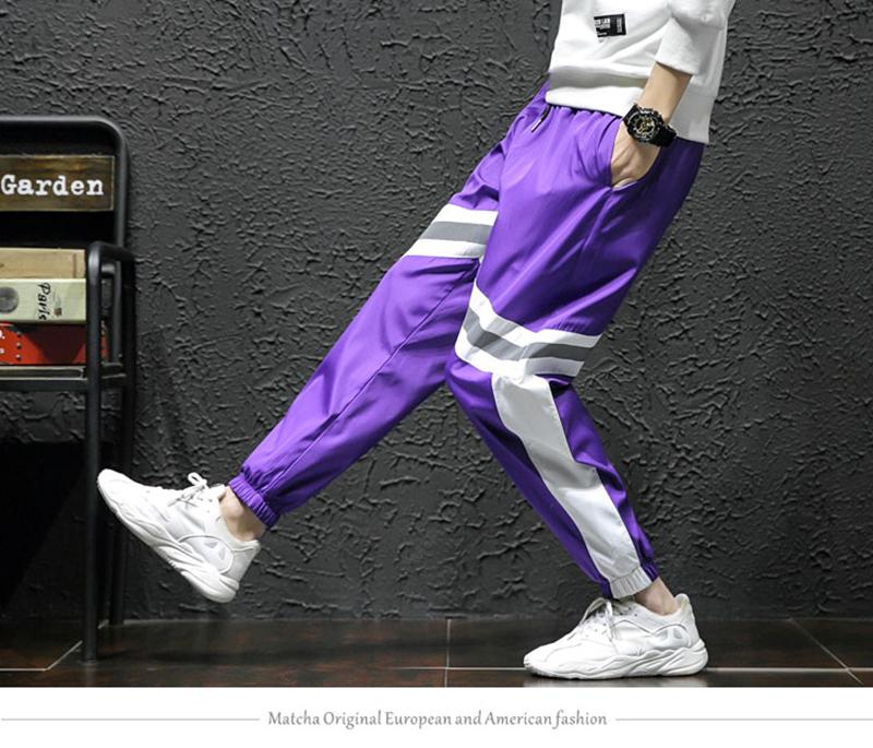 Loose Hip Hop Cargo Pants Men Camouflage Patchwork Harem Mens Trousers Streetwear (5)