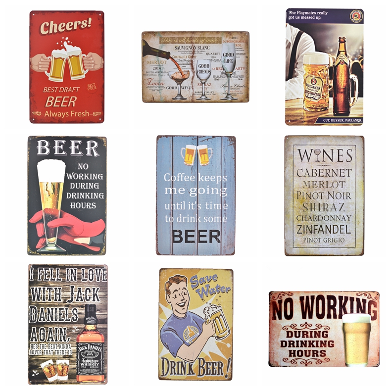 Beauty is in the Eye of the Beer Holder Retro metal Aluminium Sign vintage beer