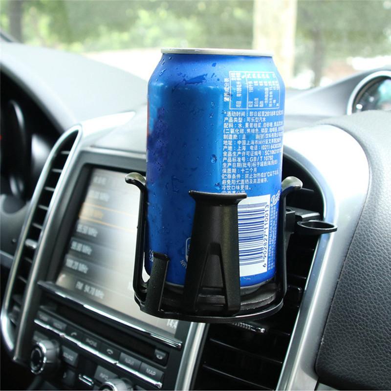 Dogggy Portavasos de Bebida para autom/óvil Portavasos de Doble Orificio Ajustable Ajustable de m/últiples Agujeros para portavasos