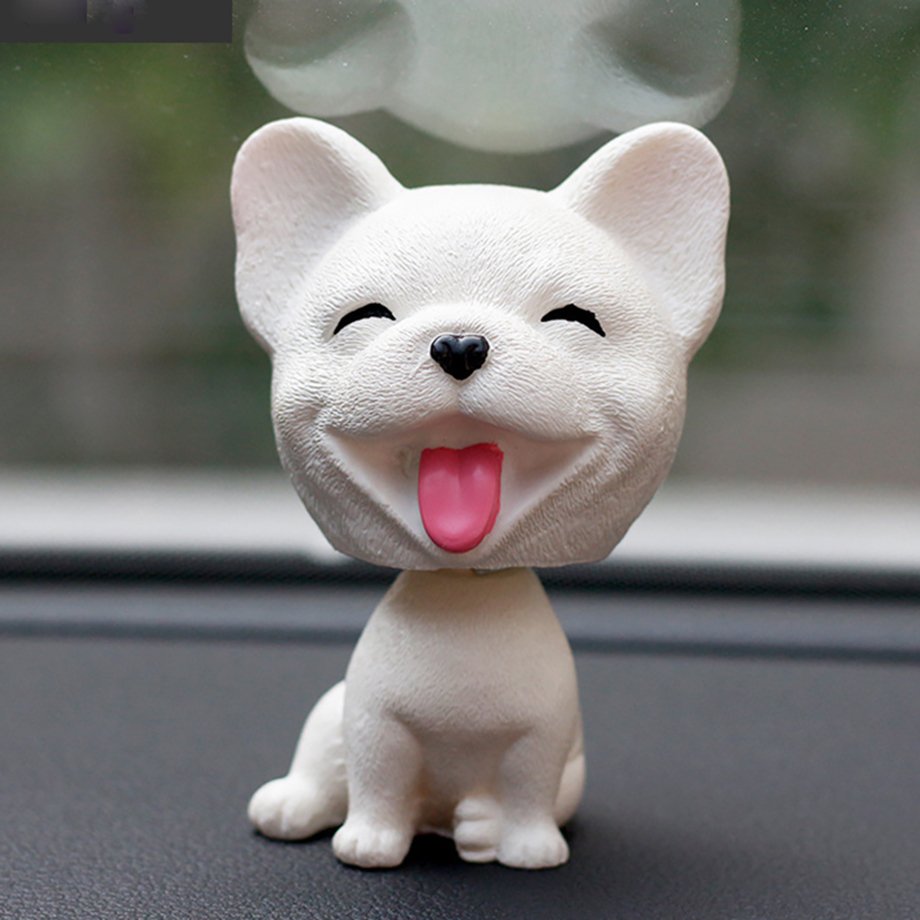 Bobblehead Dog Nodding Puppy Toys Lovely Car Dashboard Decor Toy Shaking Head Dolls Auto interior Accessory Cute Christmas Gifts (3)