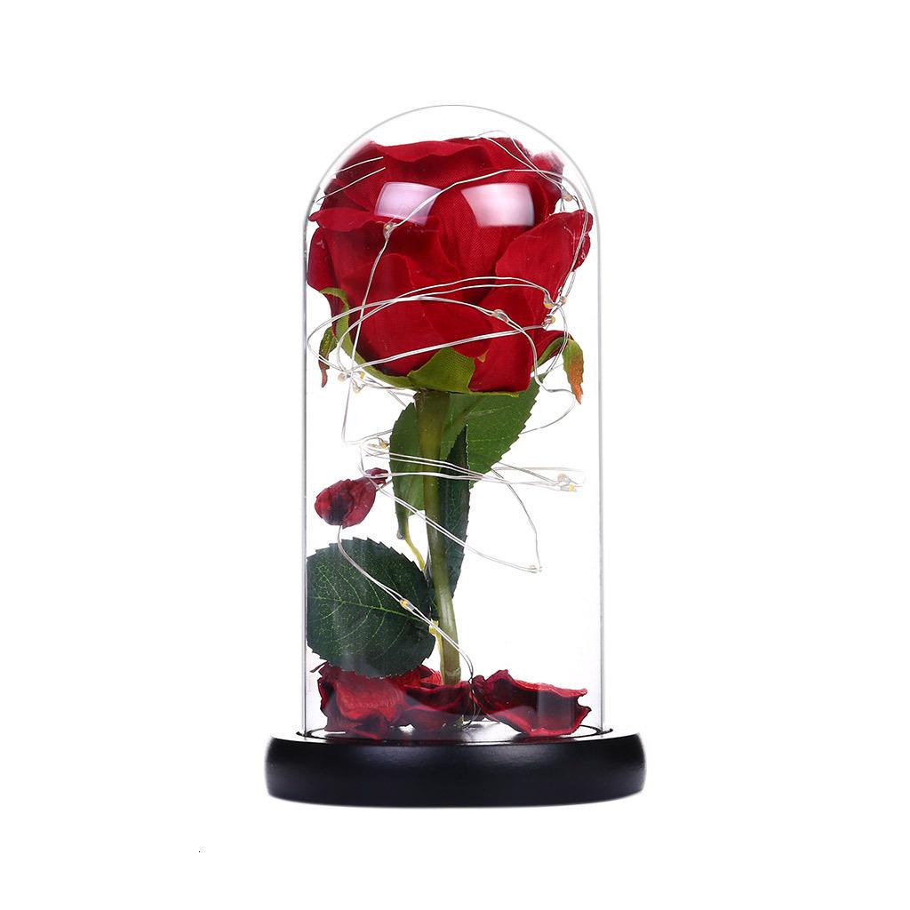 Ekran Yerine İçin Kullanım Led Küçük mobilya Lamba Odası Dekorasyon mal getir Tek Bir Soyadı Gül Cam Kapak Dekorasyon Lambası