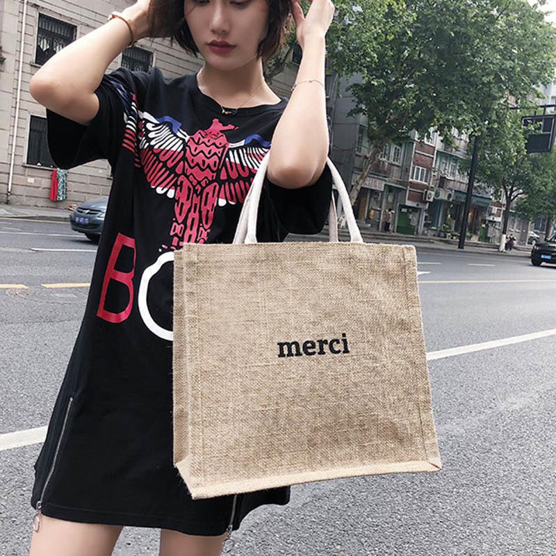 Summer New Women Weave Handbag INS Popular Fashion Female Letter Beach Straw Bags Ladies Travel Casual Braided Tote Bolsa SS3365 (5)