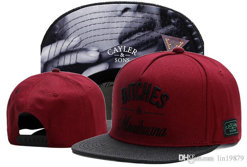 Hip Hop Men/'s CAYLER Sons Cap adjustable Baseball Snapback Street Black Hat 496#