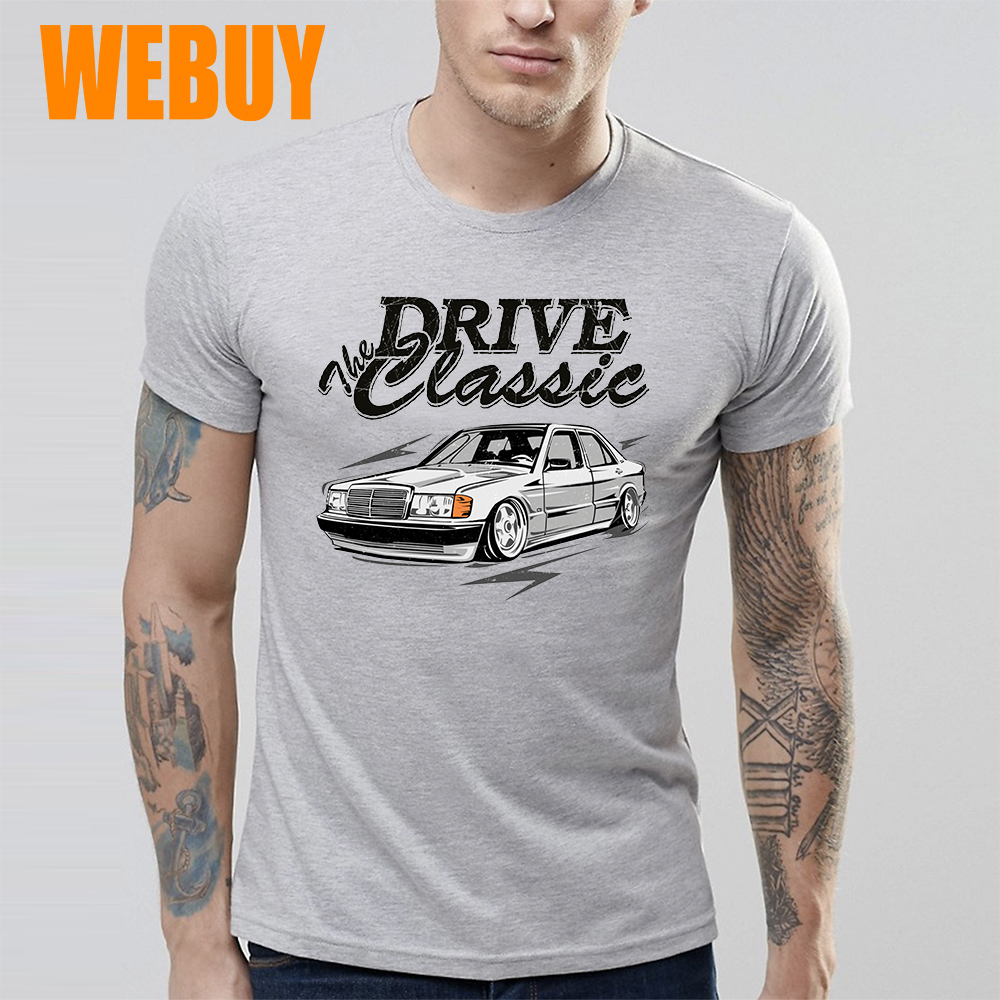 For Man New T Shirt S 6xl Big Size W201 Mercedes T Shirt Top