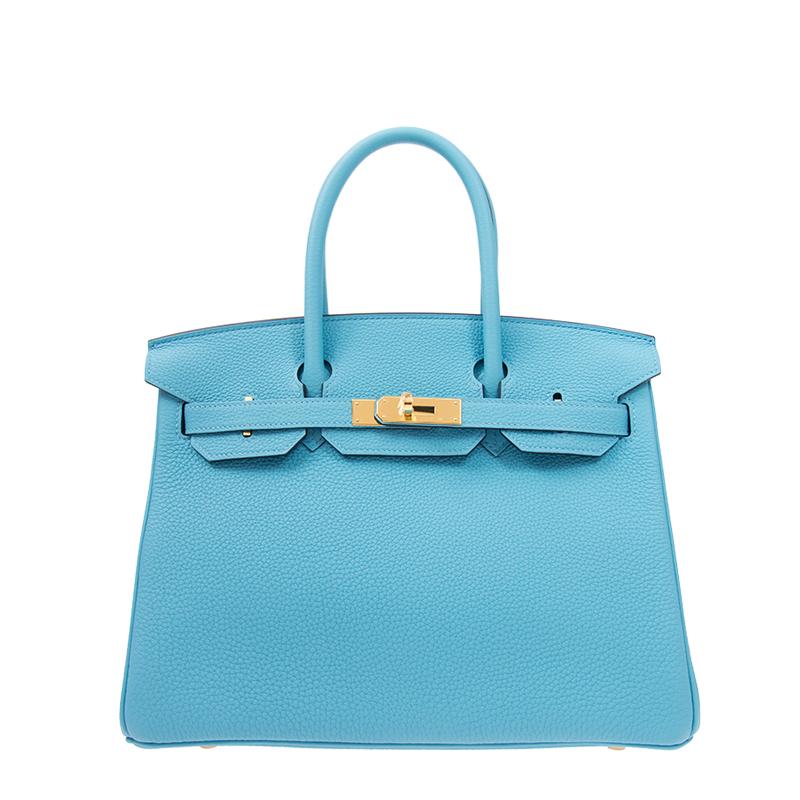 /  handbag BIRKIN 30 P3 blue TOGO gold buckle handbag BK30P3TGGP-BA9906