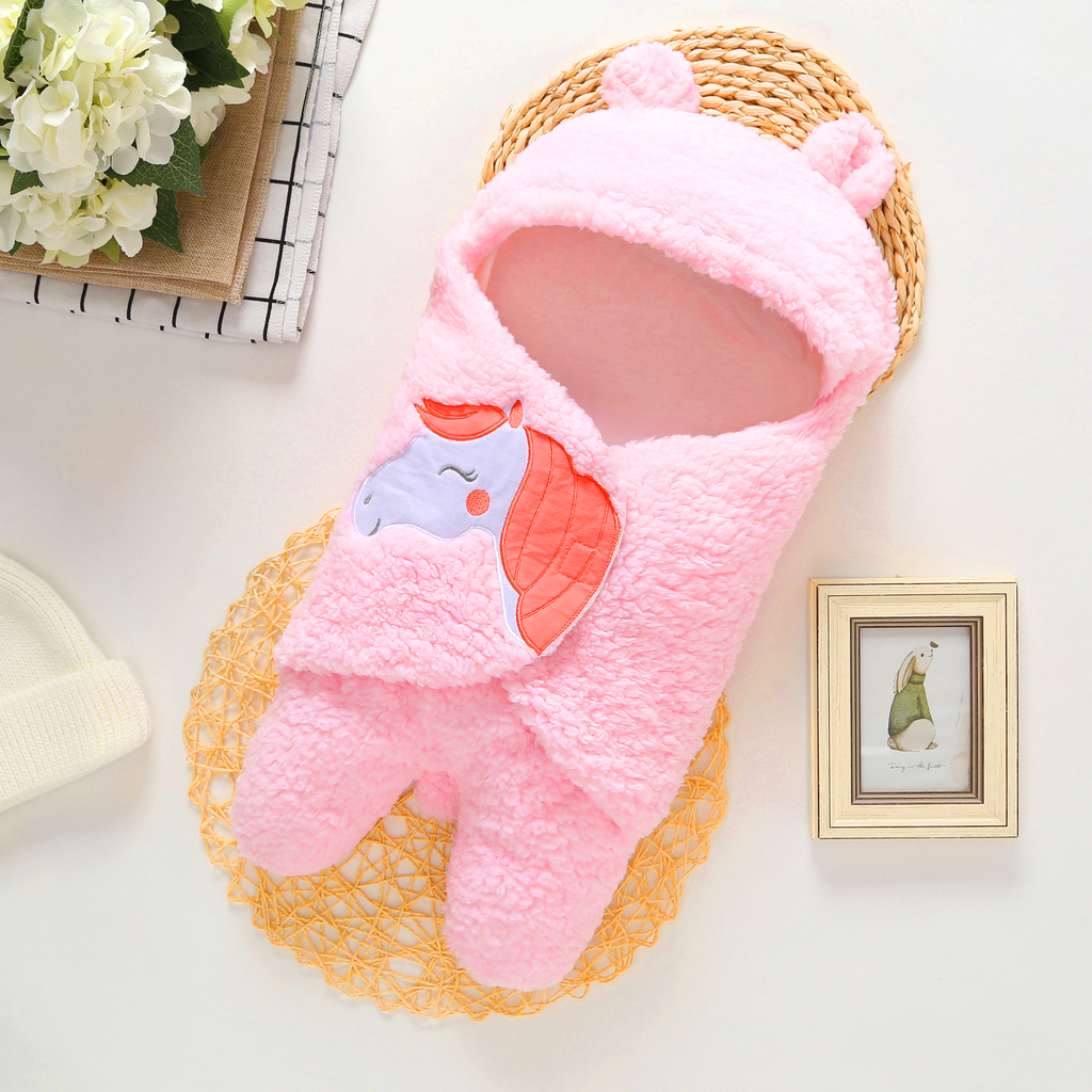 unisex newborn Blankets Envelope baby Photography product cartoon unicorn Infant Swaddle Wrap Sleeping Bag Bedding Receiving