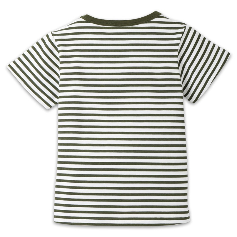 Summer Baby Boy Girl Tops And Tees Children Kids Boy Girl Short Sleeve Striped Top T-shirt Clothes Baby Boy Girl Clothes JE13#F (17)