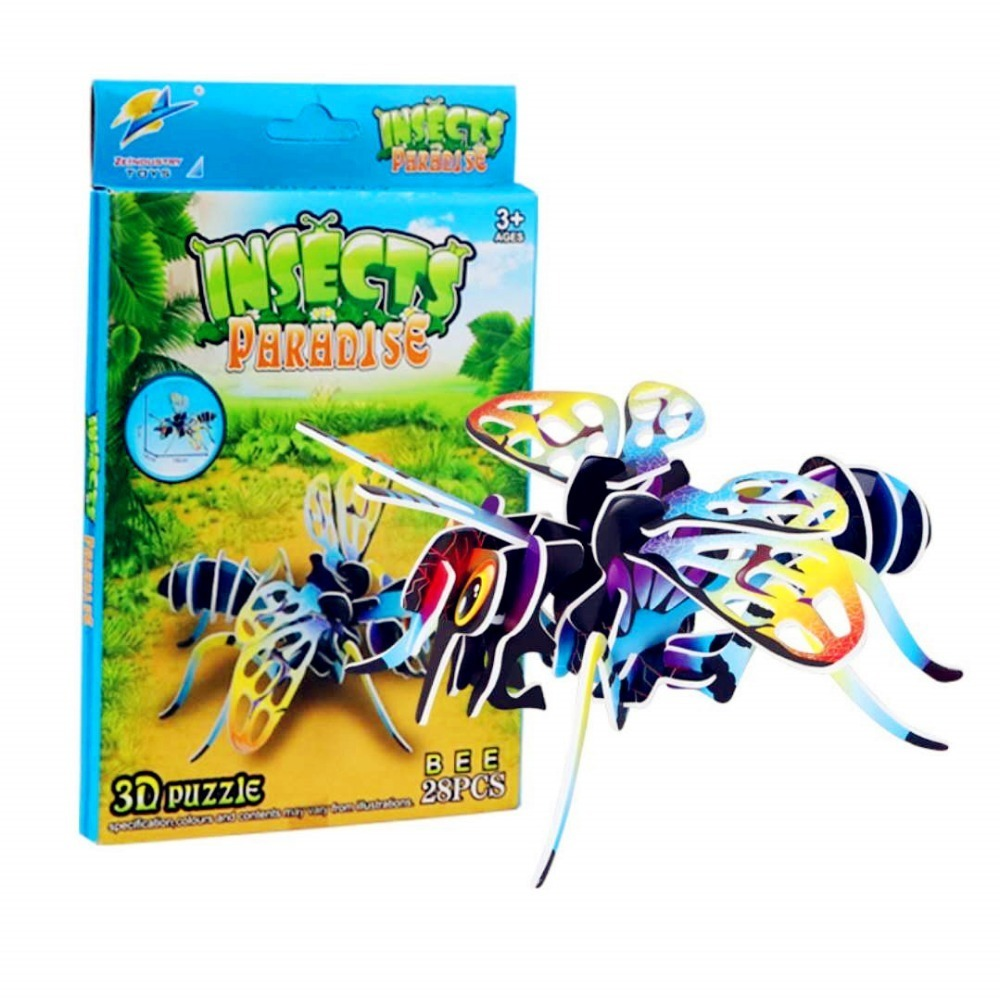 3d Insect Paper Stereoscopic Model Diy Puzzle Kids Learn Growth Game Puzzles A Gift For A Child