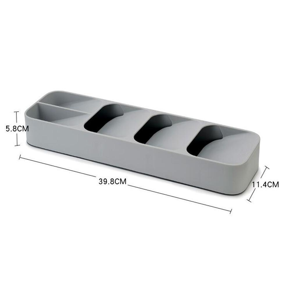 Yeni Mutfak Çekmece Düzenleyici Tepsi Kaşık Çatal Ayırma Bitirme Saklama Kutusu Çatal Mutfak Depolama Örgütü T200117