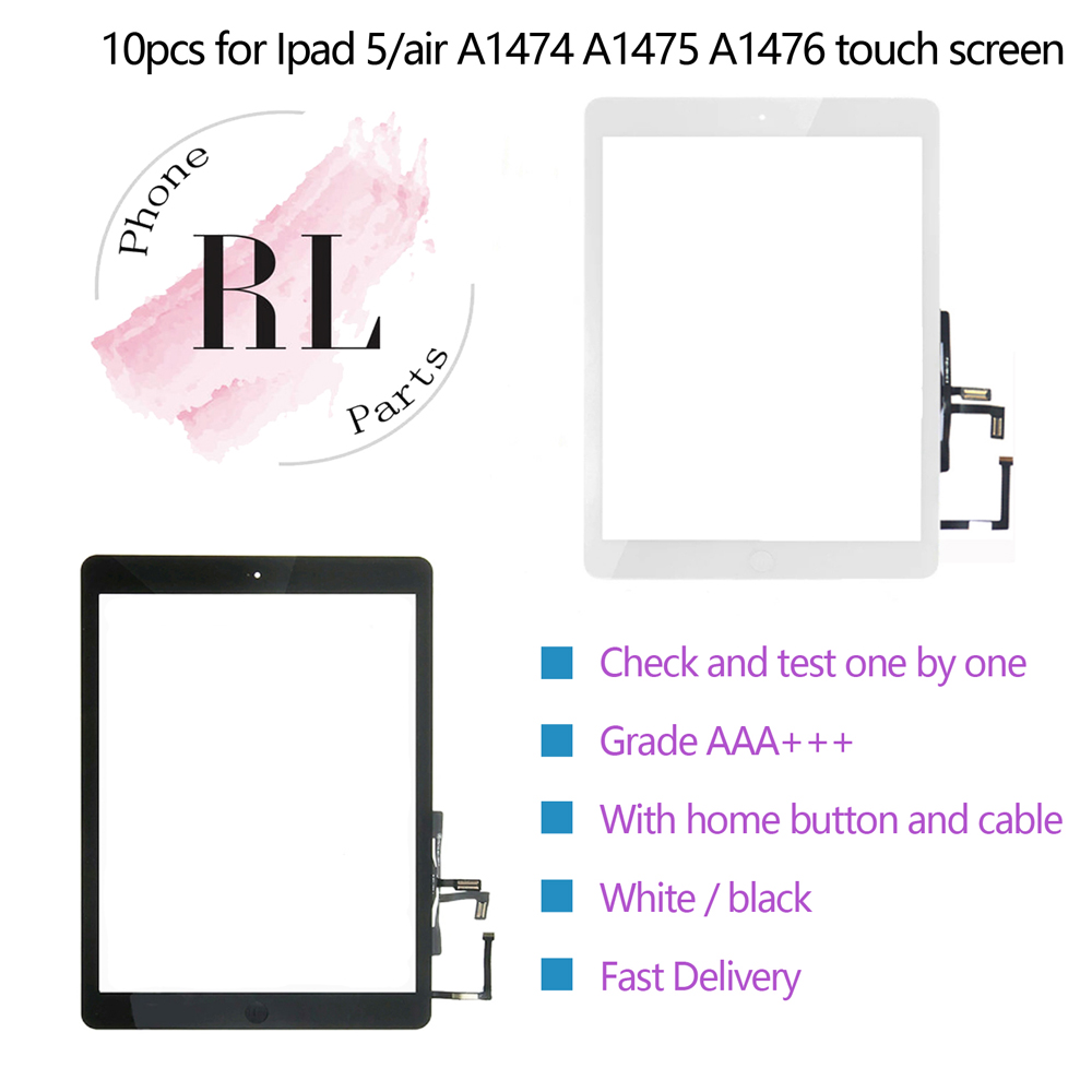 Touch Screen Digitizer Replacement Lot For Apple iPad Air 1 A1474 A1476 LCD