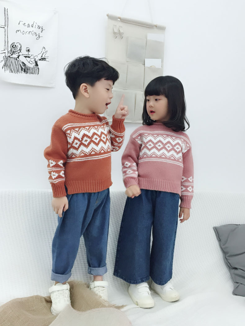 Winter Autumn Boys Sweater 2018 Children Clothes Long Sleeve Baby Girls Knitted Jacket Causal Kids Unisex Sweater Drop Shipping