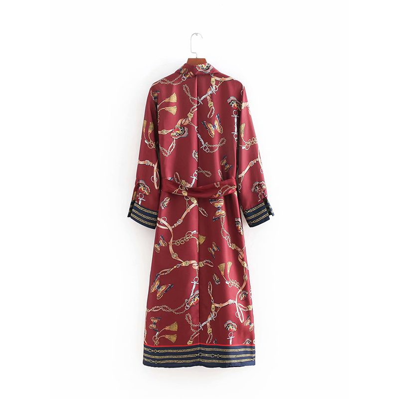 48574e7bd3aa2 JuneLove Women Spring Long Sleeve Sashes Maxi Dress Vintage Chain Butterfly  Print Female Long Dress Casual Split A Line Dresses Formal Cocktail ...