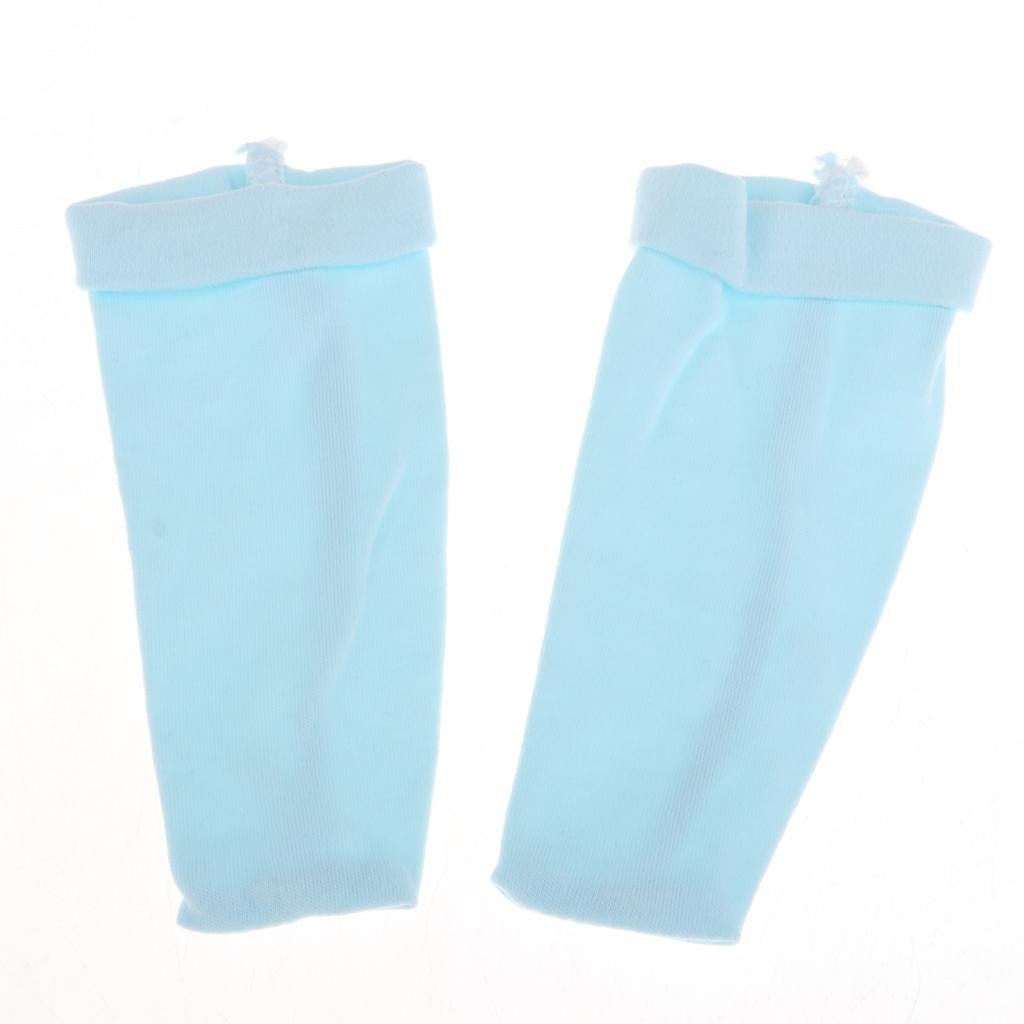 Cute Monkey Jumpsuit Hat Pants Socks Set for 22-23inch Reborn Baby Boy Doll Dress up Accessory Blue