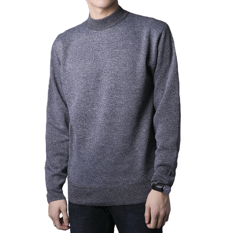 Little SU Men Spring Autumn Thin O Neck Knitted Pullover Men Casual Solid Mens Sweaters Pull