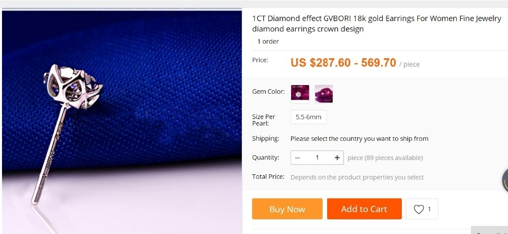 diamond earrings cheap