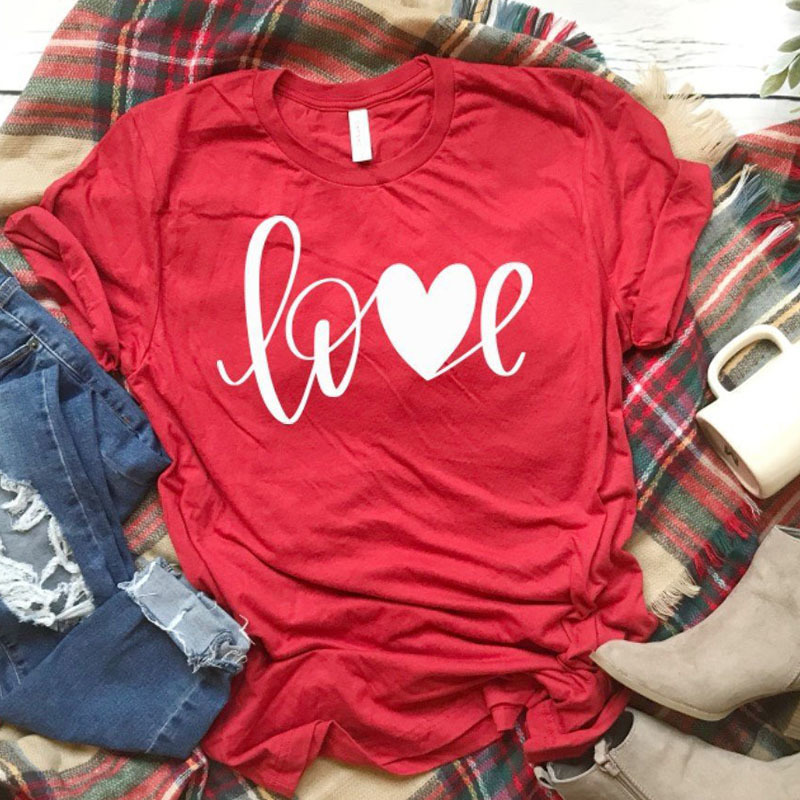 T-shirt All You Need Is Love Tees Xoxo T Unisex Valentines Day Shirt Women Causal Red Cotton Tshirt Drop C19041801