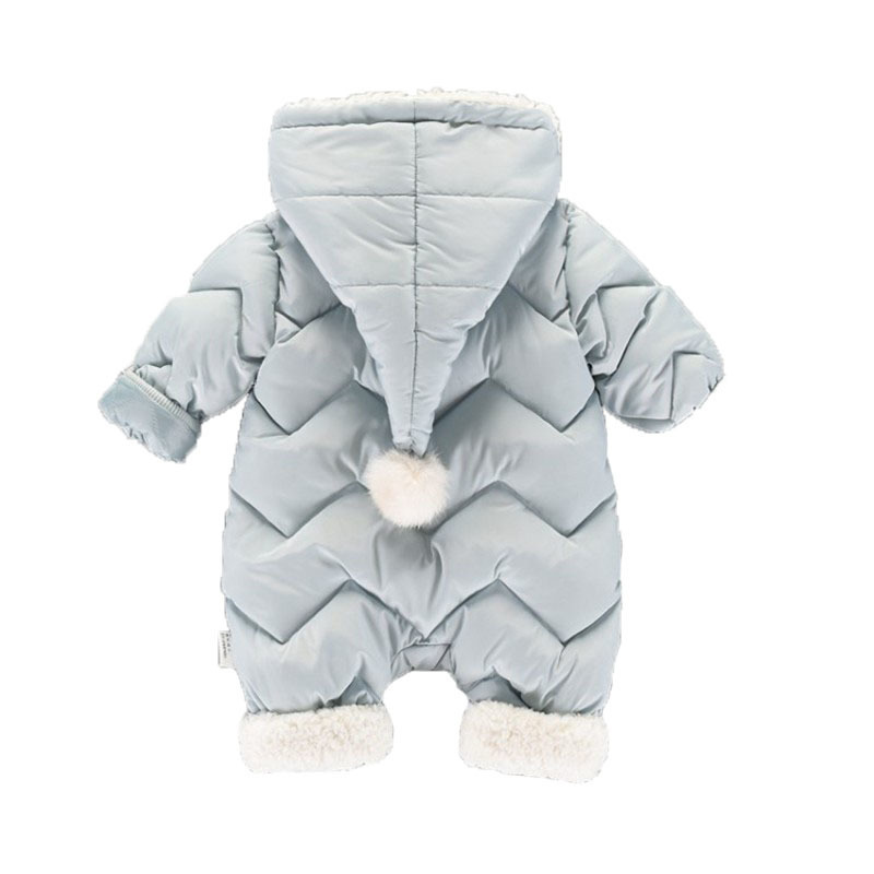 CROAL CHERIE 60-100cm Baby Winter Girls Boys Clothes Warm Fleece Velvet Newborn Baby Romper Infant Costume Pink Sky Blue (7)