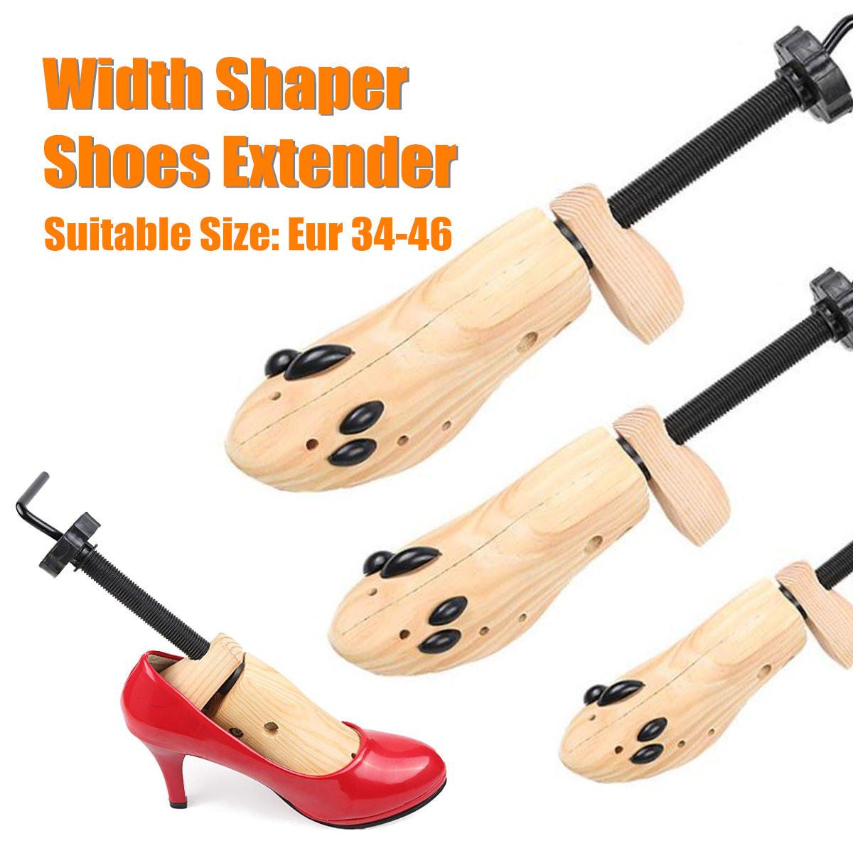 S/m/l Pu Width Extender Wood Adjustable High-heel Shoes Shaper Stretcher Tools Boots Expander Trees Rack Organizer Q190617