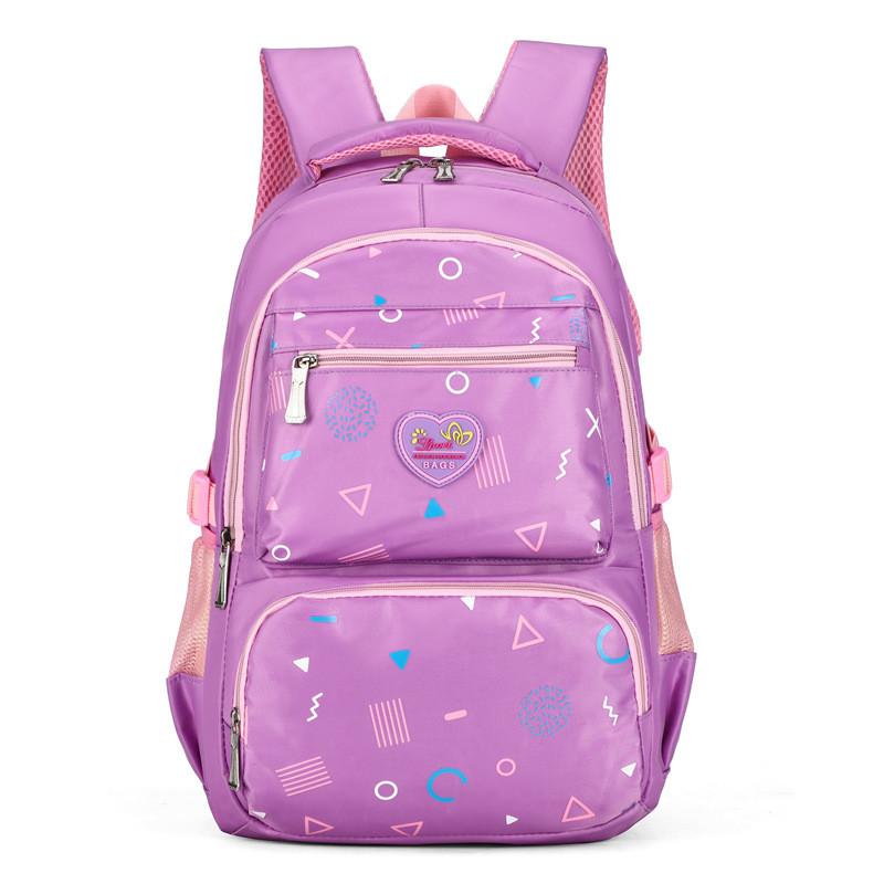 Purple Leopard Print TM School Backpack