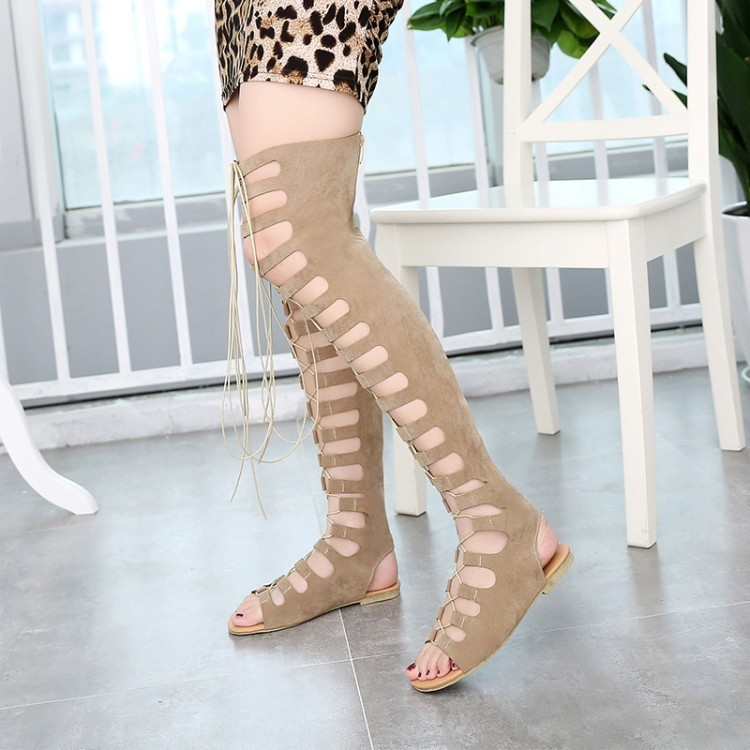 Hot2019 Canister Long Overknee Will Women's Shoes 40-43 Code Crossing Bandage High Cool The Cylinder Woman Boots
