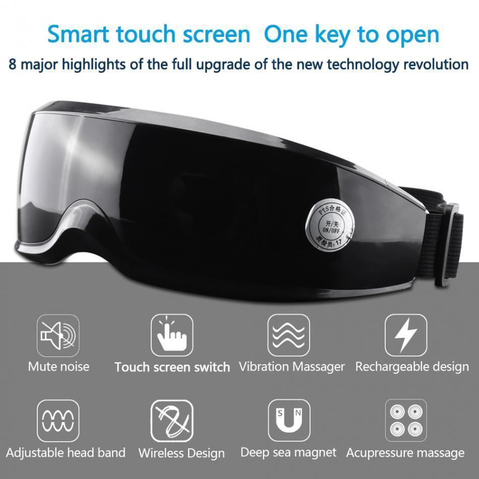 Vibração Elétrica Olho Massageador Touch Display Olhos Dispositivo Fadiga Rugas Ímã Olho Beleza Massageador T190712