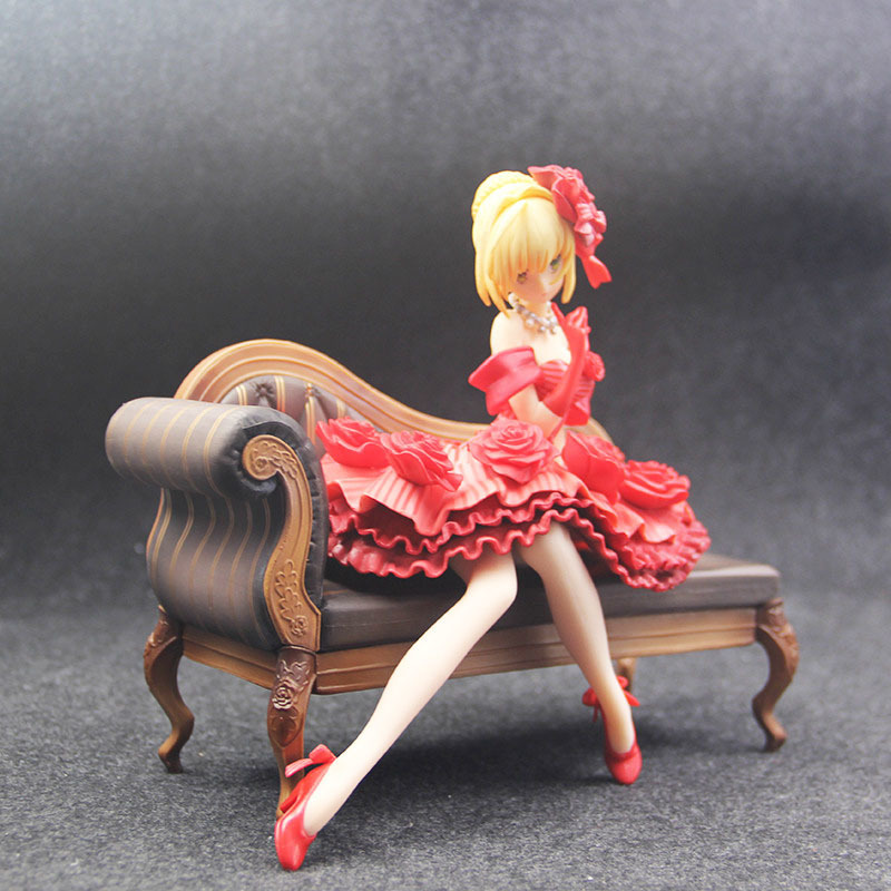 Fate Stay Night Extra Red Saber Nero Claudius Caesar Augustus Germanicus Idol Emperor 20cm Action Figure figurine (6)