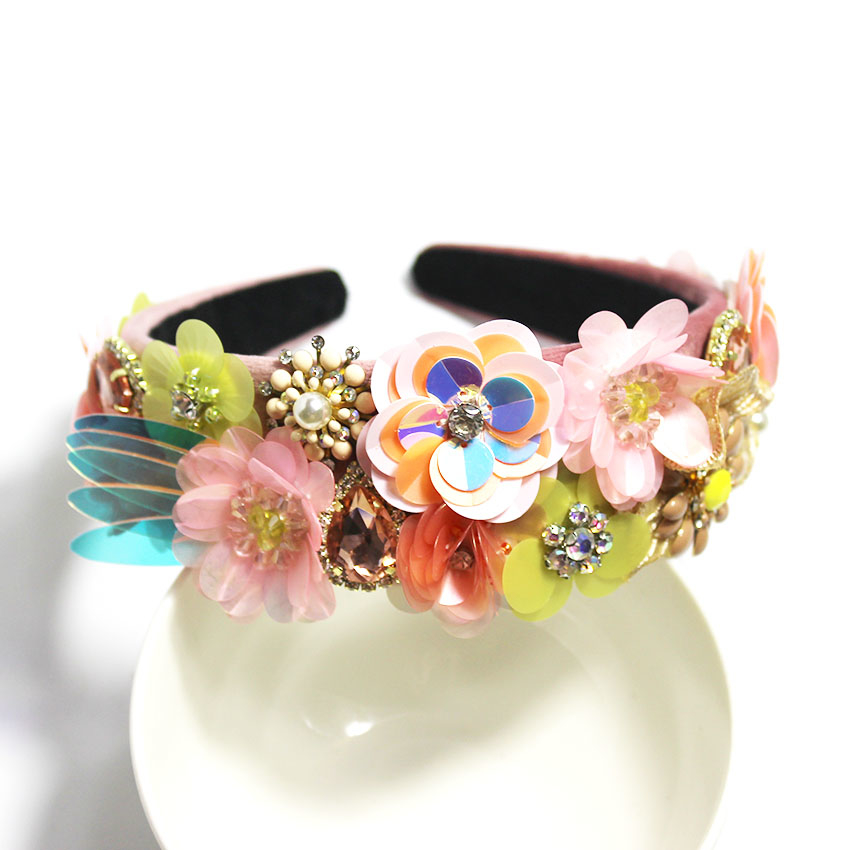 2019 New Baroque Leaf Full Fashion Fashion Hairband Retro Palace Bride Accesorios para el cabello 996 MX190817