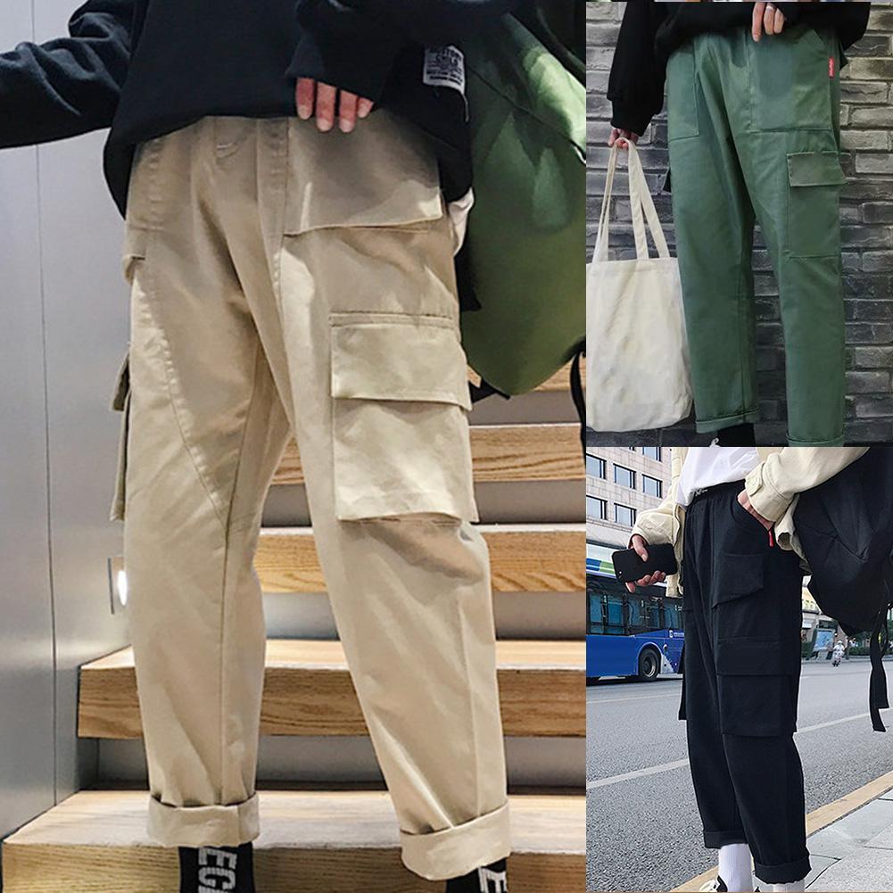 New Mens Korean Harem Long Pants Loose Dance Smart Skinhy Punk Goth Chic Trouser
