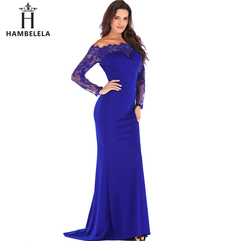 HAMBELELA Robe De Soiree Longue Long Sleeve Mermaid Evening Dresses Formal Evening Gowns China Vestido Longo Bodycon Lace Dress (14)