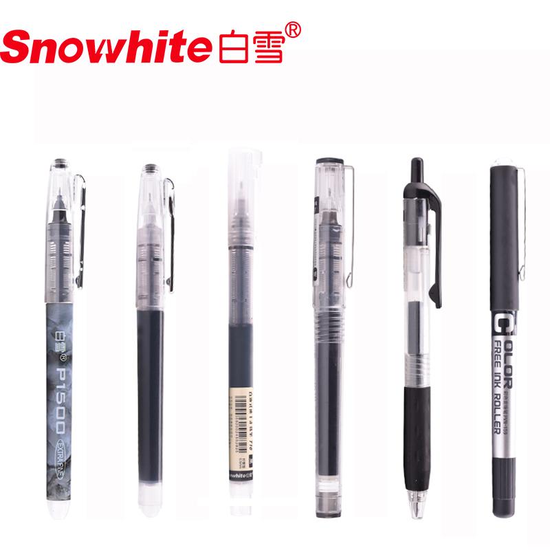 5 Stück 0.5 mm kurze Stil Kugelschreiber Gel Stift Schule Stil