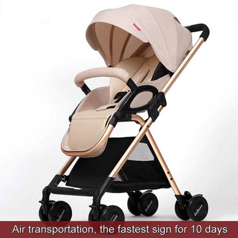 OLEY 2 en 1 Confort Enfant ombrelle Poussette B/éb/é Pliable inclinable Landaus baby stroller Rose