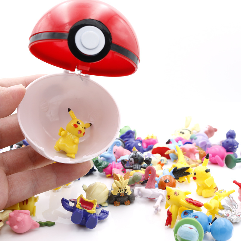 7cm Anime Cartoon Pikachu Ball Hard Sphere Animation Toys gift Decoration Monster Tiny Tots Room Decor