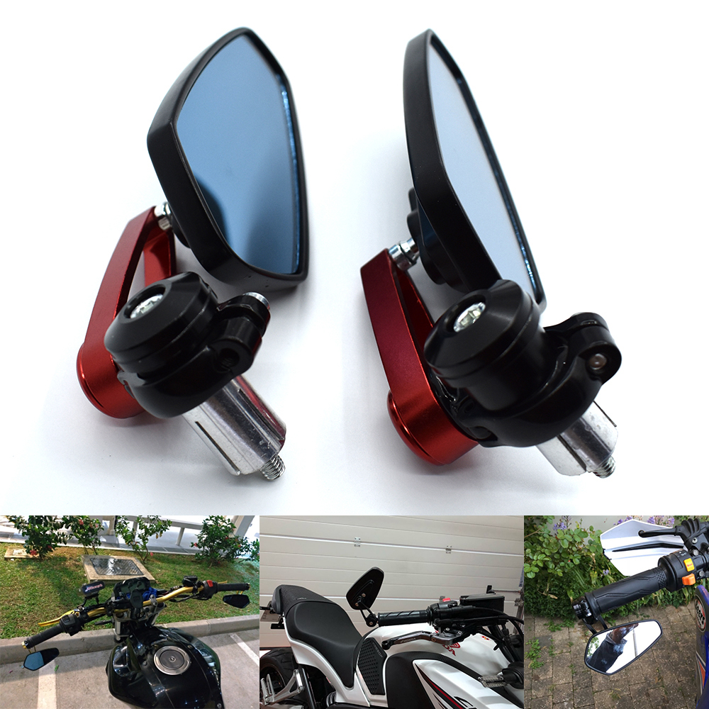 Ocamo Espejo retrovisor para Bicicleta//Bicicleta el/éctrica//Scooter//Silla de Ruedas//Andador//Cochecito//Moto//Espejo retrovisor Azul para Suzuki