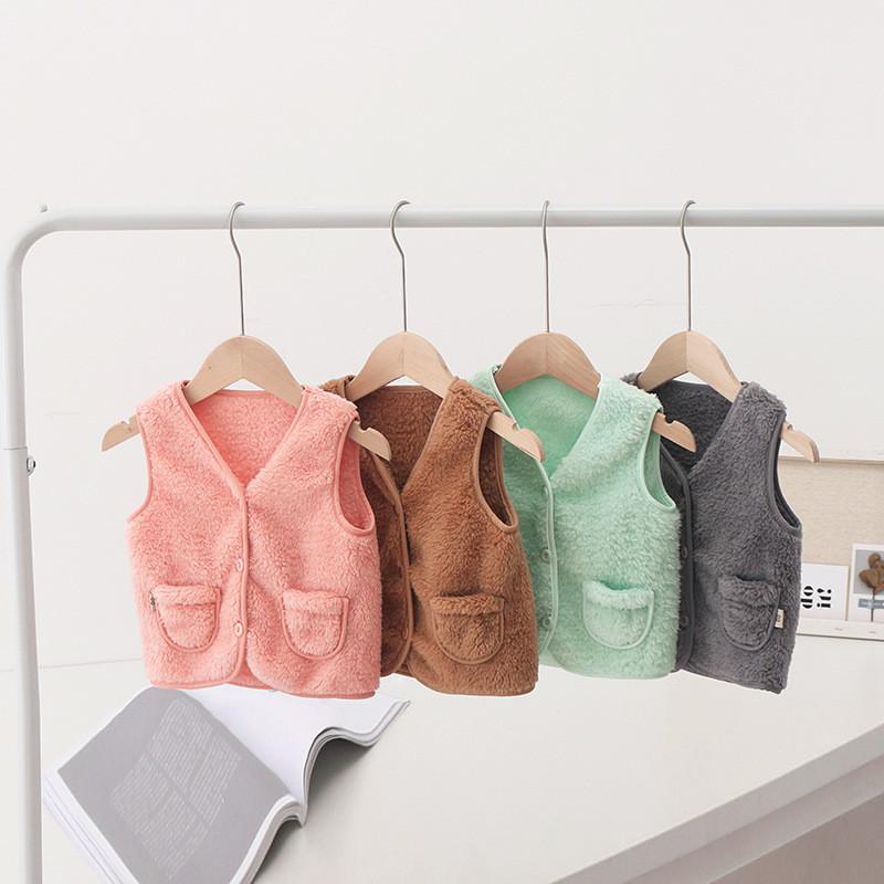 MOMKER Baby Waistcoat Kids Toddler Girls Faux Fur Vest Sleeveless Outerwear Winter Warm Gilet Jacket Thick Coat
