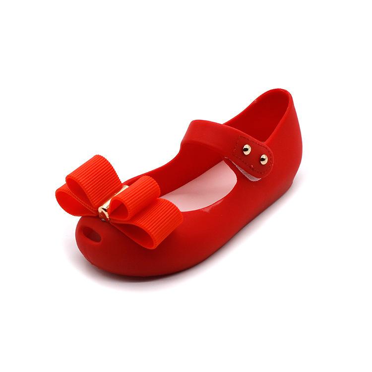 Mini Melissa 2018 New Mini Jelly Shoes Children Bow Fish Head Princess Shoes Soft And Comfortable Sandals 14-16.5cm Shoes MX190726